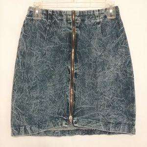 Konnie O Skirts - Vintage 80s Acid Wash Denim Jean Mini Skirt